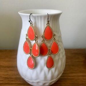 Orange Statement Earrings